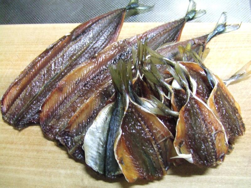 秋刀魚と鯵の味醂干し